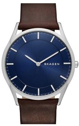 Men's Skagen 'Holst' Round Watch, 40Mm $155 thestylecure.com