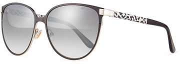 Jimmy Choo Jimmy Choo Posie Leopard-Print Metal Cat-Eye Sunglasses