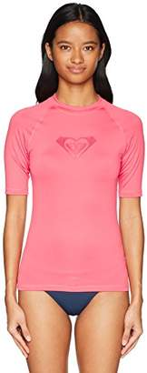 Roxy Women's Whole Hearted Short Sleeve Rashguard