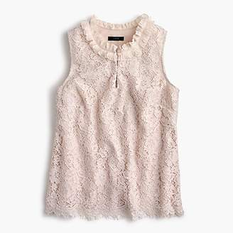 J.Crew Tall lace ruffle-neck top