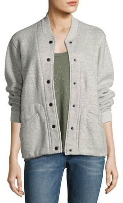 Current/Elliott The Classic Varsity Jacket, Heather Gray $278 thestylecure.com