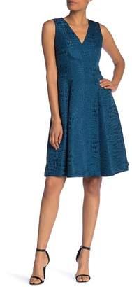 Anne Klein V-Neck Sleeveless Dress