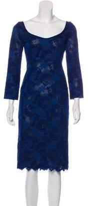 L'Wren Scott Patterned Midi Dress