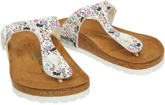 1927c2e5aeb9 at MandMDirect.com · Birkenstock Junior Girls Gizeh Birko-Flor DD Lovely  Minnie Sandals White