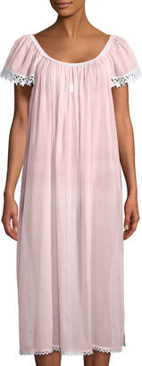 Celestine Evening Star Short-Sleeve Long Nightgown