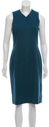 J. Mendel Wool Midi Dress Teal Wool Midi Dress