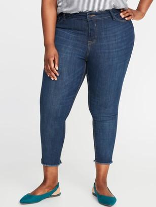 Old Navy High-Waisted Secret-Slim Pockets Plus-Size Released-Hem Cropped Rockstar Jeans