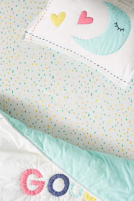 Anthropologie Confetti Crib Sheet