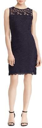 Ralph Lauren Petites Floral Lace Dress
