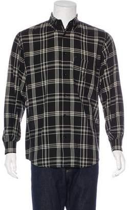Armani Jeans Plaid Flannel Shirt