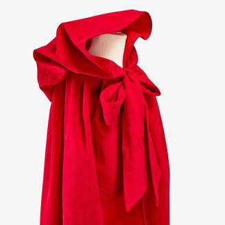 Mouche Large Suede Cape Red