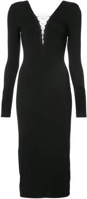 Alexander Wang long-sleeved lace-up dress