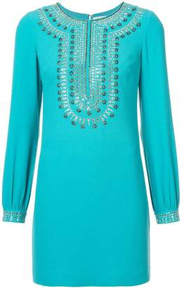 Trina Turk stud and sequin detailed dress