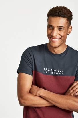 Jack Wills Westmore Colour Block T-Shirt