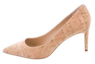 Diane von Furstenberg Pointed-Toe Cork Pumps