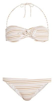 Melissa Odabash Aruba Striped Bandeau Bikini - Womens - White Stripe