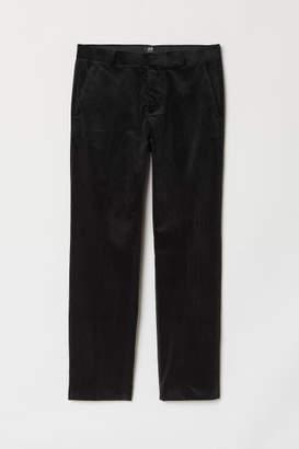 H&M Regular Fit Corduroy Pants - Black