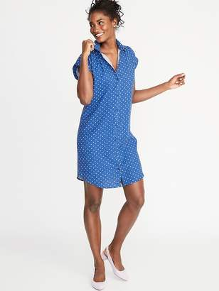 d202d74486df4 Old Navy Printed Linen-Blend Shirt Dress for Women