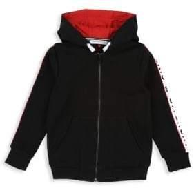 Givenchy Little Boy's& Boy's Hooded Logo Stripe Cardigan