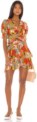 Nicholas Puff Sleeve Pintuck Dress