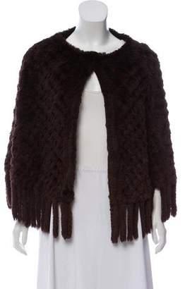 Calypso Fur Knit Poncho