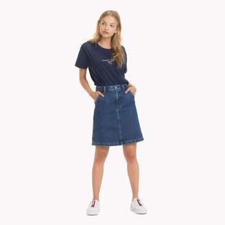 Tommy Hilfiger Stone Washed Denim Skirt