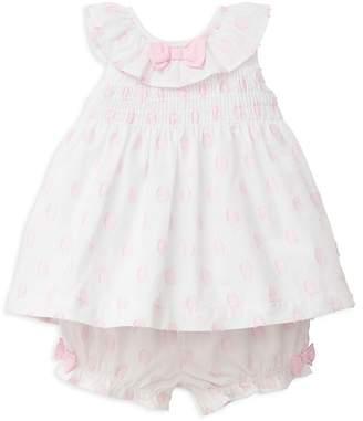 Little Me Girls' Textured Dot 2-Piece Sunsuit - Baby