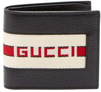 Gucci Bi Fold Wallet With Retro Logo - Mens - Black Multi