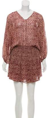 Ulla Johnson Silk Flounce Mini Dress