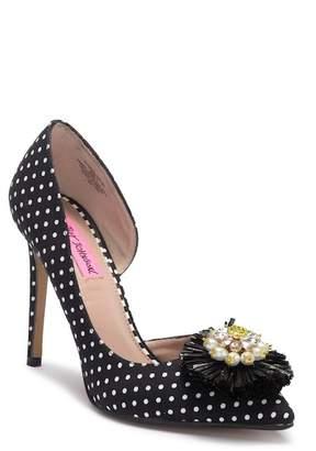 Betsey Johnson Ines Jewel Embellished High Heel Sandal