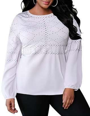 946a01fca08 Belldini Plus Studded Long Sleeve Top