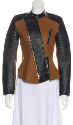 3.1 Phillip Lim Wool and Leather Moto Jacket