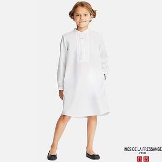 Uniqlo Girl's Cotton Twill Long-sleeve Shirt Dress (ines De La Fressange)