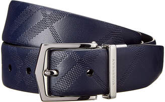 Burberry Reversible Embossed Leather Belt