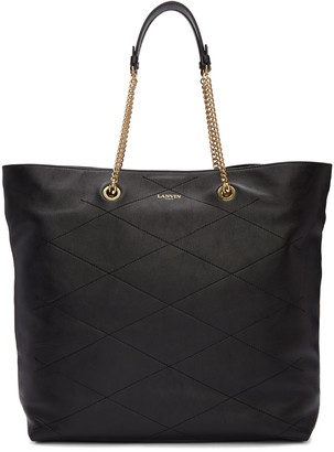 Lanvin Black Leather Sugar Tote $1,850 thestylecure.com