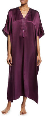Josie Natori Key Essentials Silk Square Caftan
