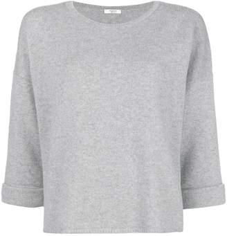 Peserico cropped sleeve sweater