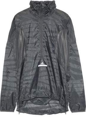 adidas by Stella McCartney Mesh-Paneled Printed Shell Jacket