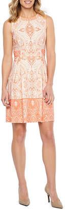 Liz Claiborne Sleeveless Paisley Fit & Flare Dress
