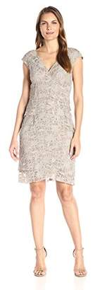 Jessica Howard Women's Lace Extended Shoulder Dress $74.46 thestylecure.com