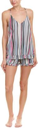 Josie Natori Beachcomber 2Pc Pajama Short Set