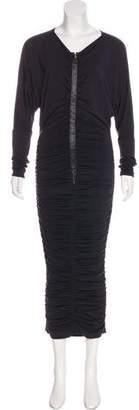 Dolce & Gabbana Silk Ruched Evening Dress
