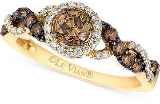 Le Vian Chocolatier® Diamond Ring (3/4 ct. t.w.) in 14k Gold $3,500 thestylecure.com