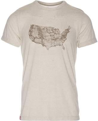 Meridian Line USA Park Map T-Shirt - Men's