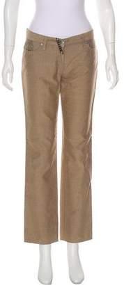 Fendi Mid-Rise Straight-Leg Pants