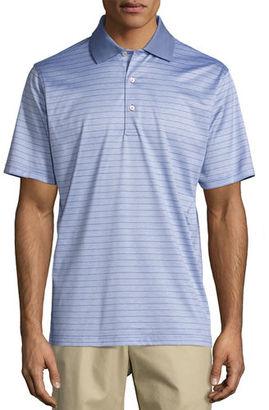 Peter Millar Jordan Striped Cotton Lisle Polo Shirt $95 thestylecure.com