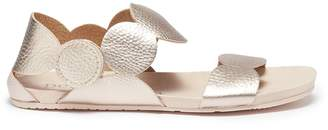 Pedro Garcia 'Jeanne' scalloped leather sandals