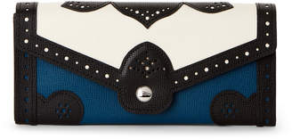 Longchamp Efrontee Brogue Leather Continental Wallet