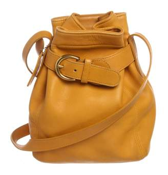 Coach Yellow Leather Handbag