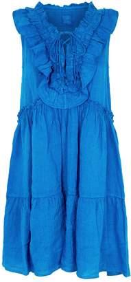 120% Lino 120 Lino Tiered Ruffle Mini Dress